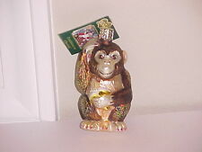 Old World Christmas Monkey glass ornament