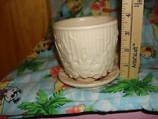 "McCoy Dragon Fly Flower Planter Pot Small Cream Color "" hard to find"""