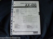 Yamaha AX-490 Factory Original Service Manual