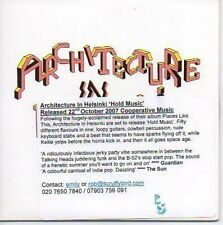 (O992) Architecture in Helsinki, Hold Music - DJ CD