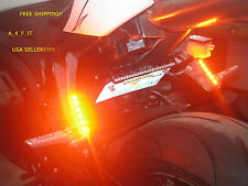 Black Smoke Flush Mount LED Turn Signal Light Blinker for Kawasaki Motorcycle