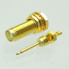 1pce Connector RP.SMA female bulkhead for 1.13 cable RF connector straight 17mm