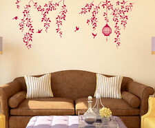 Wall Stickers Border Design Bedroom Hanging Vines Cage and Bird Staircase Design