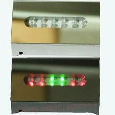 12 LED Colorful Lights Rectangle Crystal Display Base Stand +adapter+Retail BOX