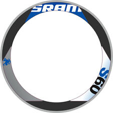 SRAM S60 RIM DECAL SET  FOR TWO WHEELS BLUE