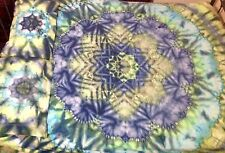 QUEEN SIZE Cotton Fitted Sheet & 2 Pillow Cases  Tie Dyed 100% Cotton
