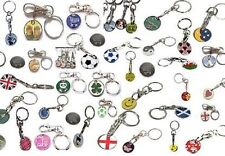 6 ASSORTED £1  SHOPPING TROLLEY COIN TOKEN KEYRINGS