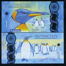Antarctica, $1, 2015 (2016), Clear Window Polymer, New Design,Penguins UNC