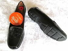 NATURAL SOUL 'Fanna' 6M Black Embossed Croco Arch Support FLATS SHOES NEW