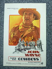 THE COWBOYS Original 1970s Western Movie Poster John Wayne, Colleen Dewhurst
