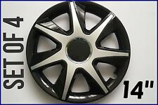 "SET OF 4 14"" UNIVERSAL WHEEL TRIMS COVER,RIMS,HUB,CAPS TO FIT FORD +GIFT #8"