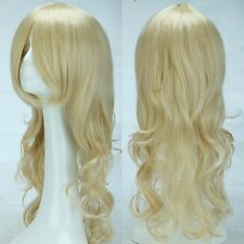 Anime Cosplay Wig Synthetic Hair Full Head Costume Linen Blonde Heat Resistant
