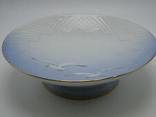 B&G Bing & Grondahl Seagull 9.5in Round Cake Stand #206 Porcelain Footed Bowl