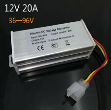 Converter Adapter to Voltage Transformer DC 96V 72V 64V 60V 48V TO 12V 20A