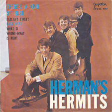 """7"""" EP - Herman's Hermits - There's A Kind Of Hush - EPCO-9157 - YU 1967"""