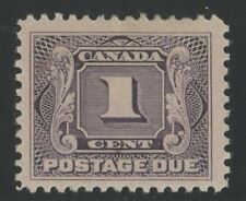 J1 Postage Due  1c Canada mint