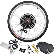 "36V 500W 26"" Rear Wheel Electric Bicycle Motor Kit eBike Cycling Hub Conversion"