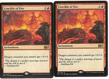 mtg Magic 2x Crucible of Fire (Crisol de fuego) English NM- M2015