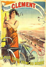Art Ad Clément Cycles Motocycles Cycle Bike Bicycle  Deco Poster Print