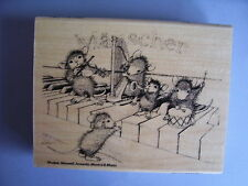 HOUSE MOUSE RUBBER STAMPS MUSICAL MICE STAMP NEW