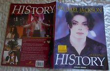 MICHAEL JACKSON MAKING HISTORY AVEC POSTER - 1998 OMNIBUS PRESS BOOK