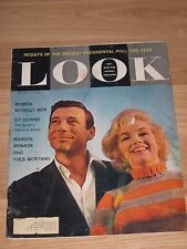 Marilyn Monroe July 1960 Look Magazine Pin-Up Cover Girl Norma Jean BDSM/Free SH