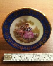 LIMOGES FRANCE MINIATURE PLATE COURTING COUPLE