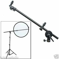 "Studio Pro Photo Holder Bracket Swivel Head Reflector Disc Arm Support 26""-69"""