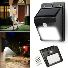 20 LED Solar Powered Sensor Bright Light waterproof for Outdoor Outside Wall