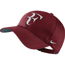 New Nike RF Roger Federer Hat Cap Team Red / Tennis  Dri Fit 371202-678