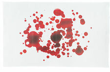 Blood stained and splattered design Large Cotton Tea Towel