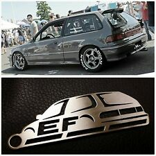 88-91 JDM Honda Civic EF hatch  Rare Stainless Steel metal Custom Keychain