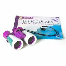 Science Club Binoculars & Wildlife Activity Journal Boys and Girls Ages 8-15 Yrs