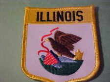 ILLINOIS STATE FLAG PATCH   EMBROIDED  IRON ON 3 X 3 1/2