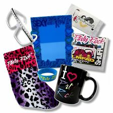 LMFAO PARTY ROCK 7 PC SET STOCKING WRISTBAND MUG STICKERS TATTOOS FRAME GLASSES