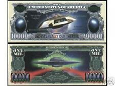 UFO Novelty Million Dollar Bill Extraterrestrial Roswell Area 51