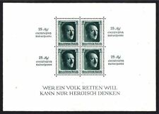 GERMANY STAMP #B104 —  SOUVENIR SHEET with INSCRIPTIONS -- 1937 -- UNUSED