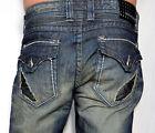 Affliction Men's Denim - BLAKE CUT OUT FLEUR FLAP Jeans - 110RS037 - Venice Wash
