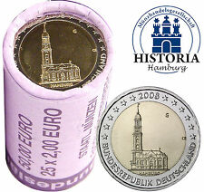 25 x 2 Euro Deutschland 2008 bfr. Hamburger Michel Mzz. G in Sichtrolle