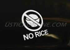 NO RICE Car Decal Graphic Sticker Euro DUB Drift Funny Race Drag Scene Show VAG