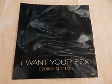 "George Michael ""I Want Your Sex"" PICTURE SLEEVE! NEW! MINT! ABSOLUTELY PERFECT!!"