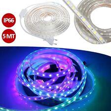 STRISCIA TUBO LUMINOSO LED RGB MULTICOLOR ILLUMINAZIONE IP66 ESTERNO NATALE 5MT