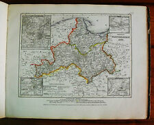 1849 MEYER'S ZEITUNGS-ATLAS=GEOGRAPHICAL MAP: PROVINCIA DI WEST PREUSSEN,ETNA.