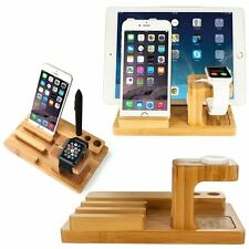 WOODEN Desktop Supporto Caricabatterie Docking Station per Apple IWATCH iPhone iPad