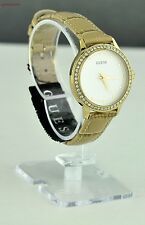 NUOVA elegante 100% originale ladies watch originale Guess moka in pelle donne regalo