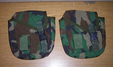 2 GENUINE US NAVY SEALS SPEAR SAFARILAND ELCS 2 QT CANTEEN POUCHES