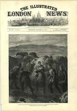 1877 Romanians Building Trenches Before Plevna Engraving