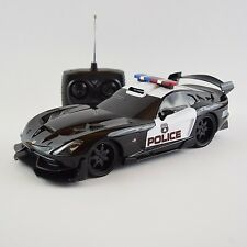 Dodge Viper Police Car RC Radio Remote Licensed Toy 1:18 w/Lights *SEE VIDEO*