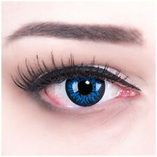 "Coloured Contact Lenses ""Blue Demon"" Contacts Color Fasching + Free Case"