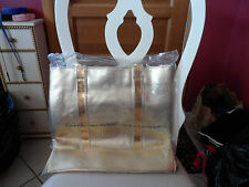 Large Gold shopper beach tote from Avon